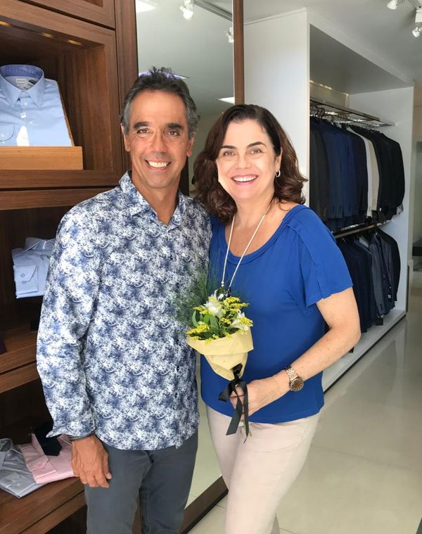 Cesinha e Adriana Saade