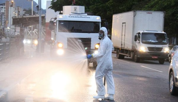 Municípios do ES iniciam trabalho de desinfectação de ruas contra o coronavírus