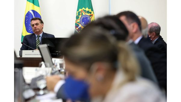Presidente da República Jair Bolsonaro participa de videoconferência sobre o combate ao coronavírus com governadores do Sudeste