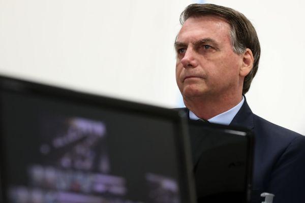 Presidente Jair Bolsonaro em reunião virtual com governadores do Sudeste