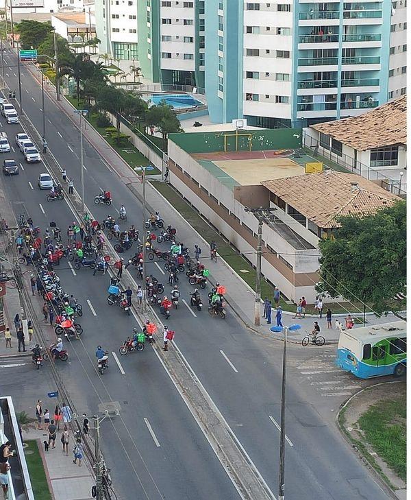 Protesto de motoboys em Vila Velha