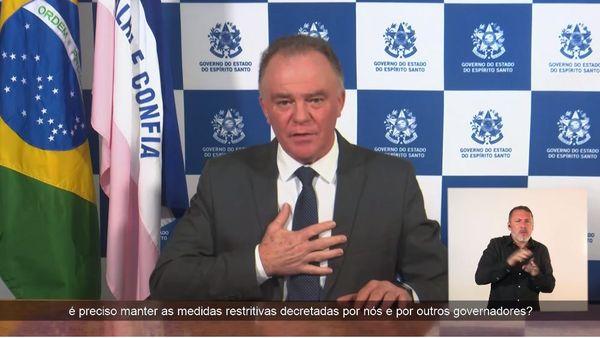 Governador Renato Casagrande fez pronunciamento