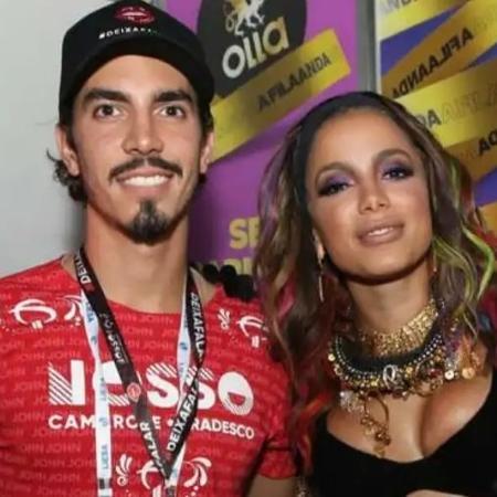 Gabriel David e a cantora Anitta
