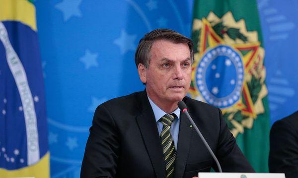 Presidente Jair Bolsonaro em anúncio de pacote de crédito para ajudar empresas a pagar a folha