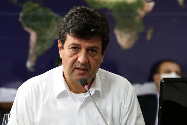 Ministro de Estado da Saúde, Luiz Henrique Mandetta, durante videoconferência com Governadores do Sudeste