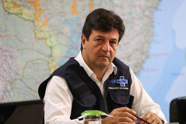 24/03/2020 - Brasília - DF -  Videoconferência com Governadores do Centro-Oeste - Ministro de Estado da Saúde, Luiz Henrique Mandetta durante Videoconferência com Governadores do Centro-Oeste.  Foto: Marcos Corrêa/PR