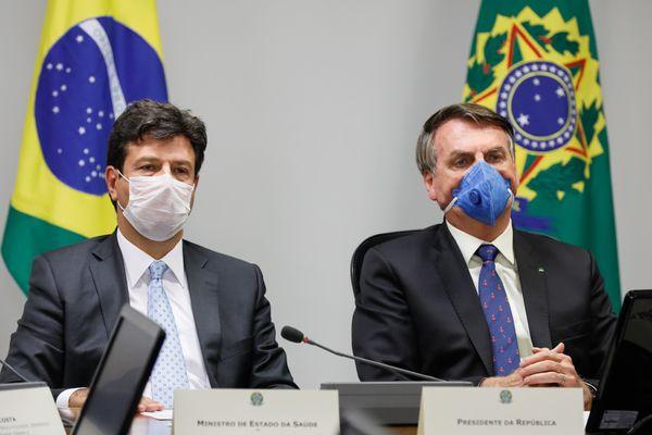 Coletiva de Imprensa do Presidente da República, Jair Bolsonaro e Ministro da Saúde, Luiz Henrique Mandetta. Brasília, DF.