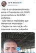 No Twitter, Jair Bolsonaro publica vídeo que falsamente diz que Ceasa de BH estava desabastecida. Depois, ele apagou