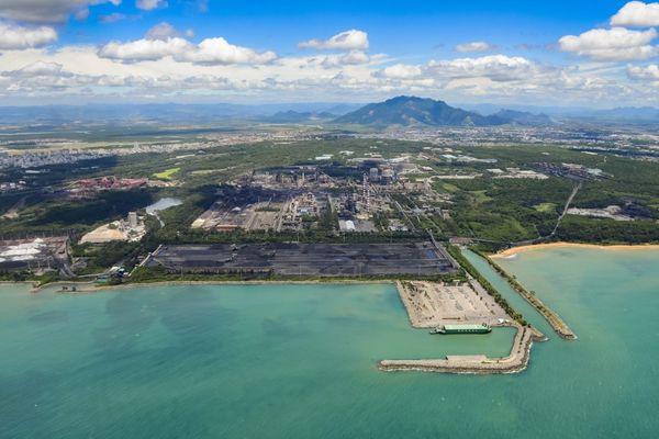 Vista aérea da ArcelorMittal Tubarão