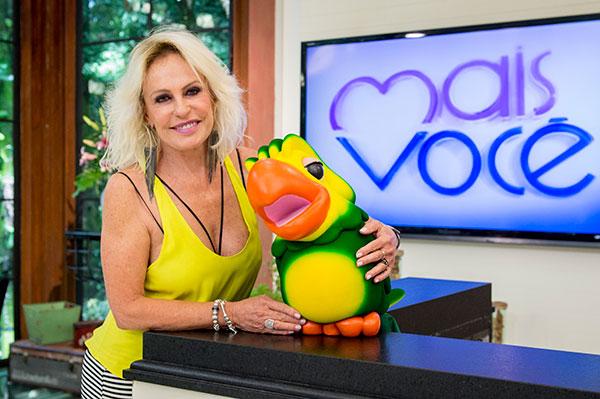 Ana Maria Braga é apresentadora do programa Mais Você da Rede Globo.
