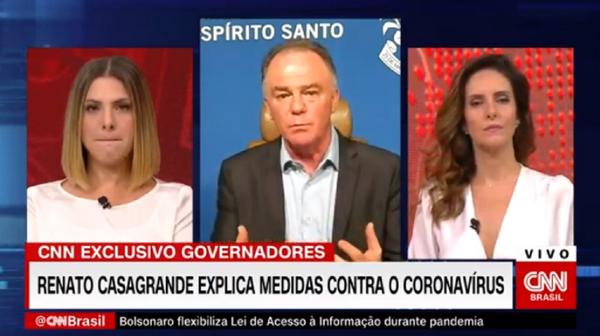 Da esquerda para a direita: Daniela Lima, Renato Casagrande e Monalisa Perrone