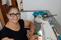 Maria das Graças Romeiro tem 65 anos e começou a produzir máscaras de pano. Crédito: Aline Juliana Romeiro