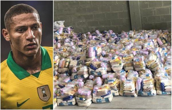 Richarlison doou 500 cestas básicas a famílias de Nova Venécia