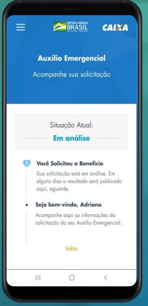 Site e aplicativo para fazer o cadastro e receber o benefício de R$ 600