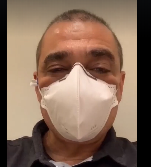 Edmar Santos resolveu fazer o teste após o governador, Wilson Witzel, anunciar que está com a doença