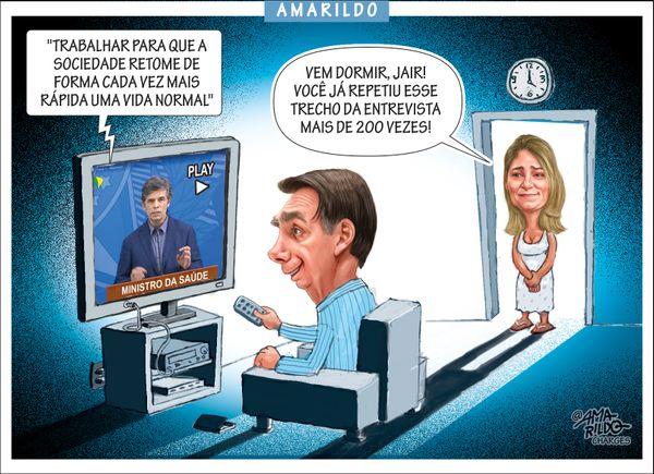 Confira a charge do Amarildo de 20/04/2020