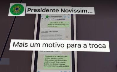 Conversa de WhatsApp entre o então ministro Sergio Moro e o presidente Jair Bolsonaro