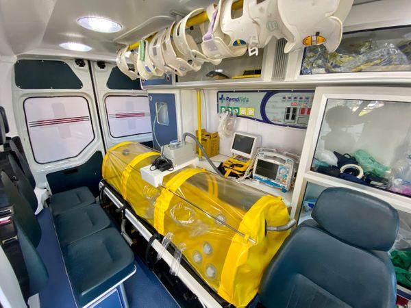 Pacientes de Marataízes com suspeita de Covid-19 serão transportados em cápsula de isolamento