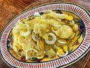 Salada de batata com ovo e molho de cebola da chef Giovana Moyzes