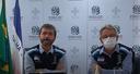 O secretário de Estado de Saúde Nésio Fernandes (à esquerda), e o subsecretário estadual de Vigilância em Saúde, Luiz Carlos Reblin em entrevista coletiva nesta sexta-feira (08)
