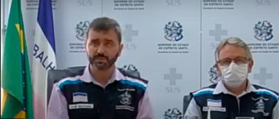 Coletiva de imprensa realizada com o Secretário de Estado da Saúde, Nésio Fernandes, e com o subsecretário de Vigilância em Saúde, Luiz Carlos Reblin