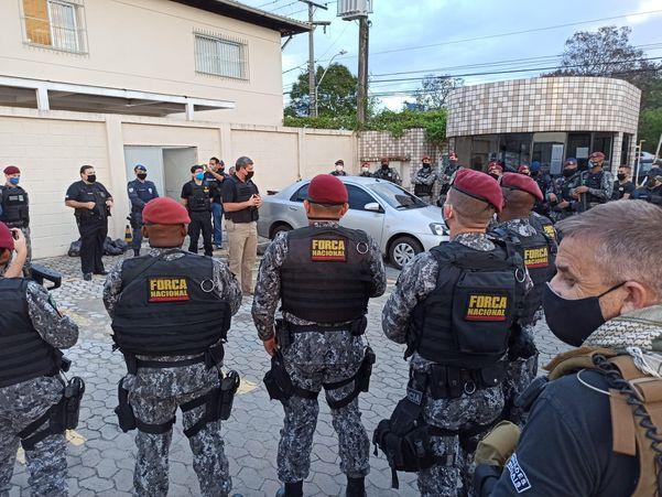 A Força Nacional também participou da ação desencadeada no Estado