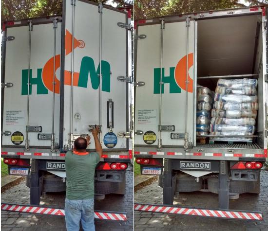 Caminhões da HCM foram flagrados entregando alimentos para a empresa Suncoast