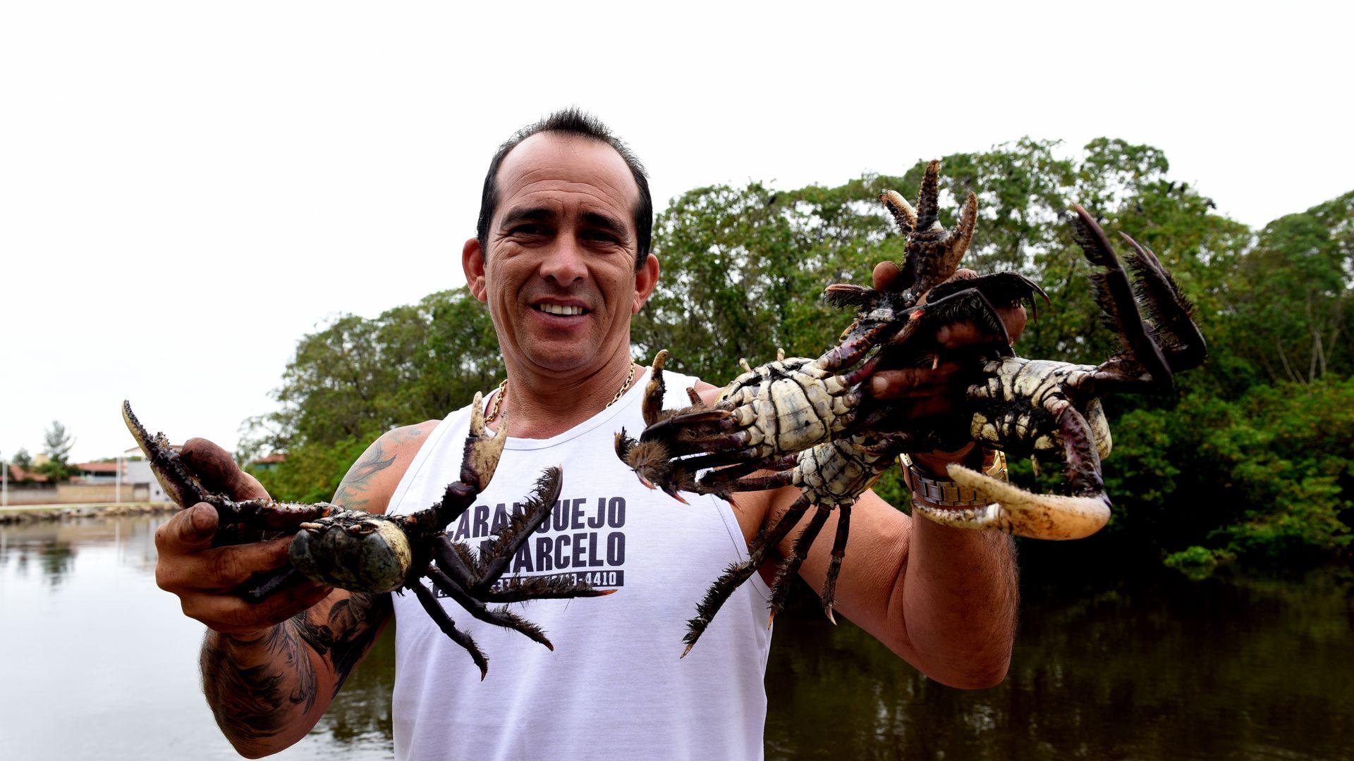Data: 22/05/2020 - ES - Serra - Marcelo Alves Cometti, um dos maiores fornecedores de caranguejo do Estado - Editoria: Cidades - Foto: Ricardo Medeiros - GZ