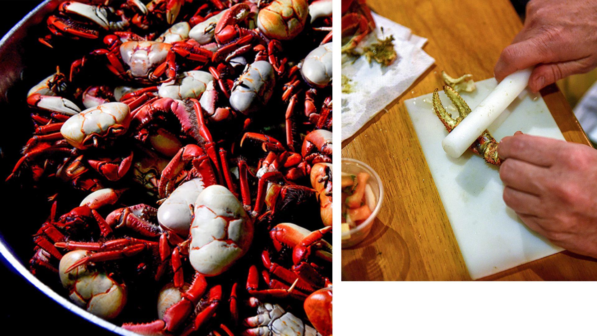 Data: 01/06/2020 - ES - Vitória - Caranguejo servido no restaurante ilha do caranguejo, em Jardim Camburi, Vitória