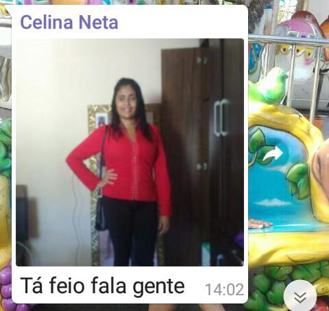 Celina contou sobre entrevista de emprego em grupo de família