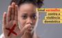Campanha sinal vermelho contra a violência doméstica