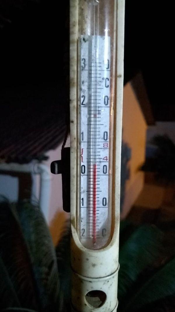 Em Santa Maria do Jetibá o frio também não deu trégua na madrugada desta terça
