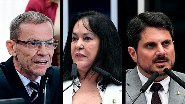 Senadores capixabas: Fabiano Contarato, Rose de Freitas e Marcos do Val