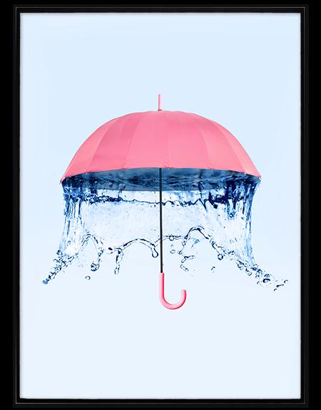 Quadro Raining Umbrella, de Paul Fuentes