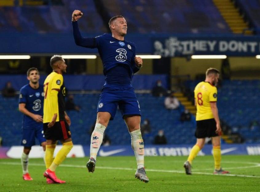 Crédito: Chelsea conseguiu grande vitória sobre o Watford por 3 a 0 (GLYN KIRK / POOL / AFP