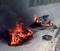 Com o impacto da colisão, as duas motocicletas acabaram pegando fogo após o acidente. Crédito: Leitor