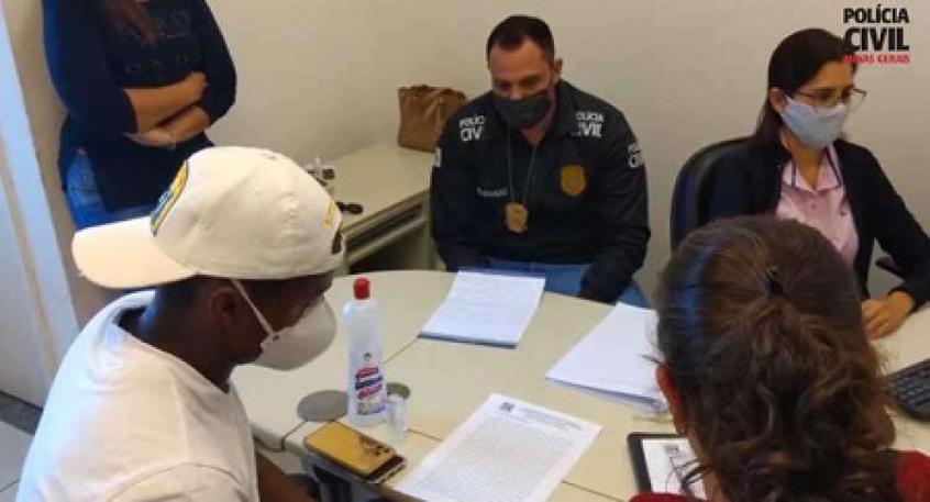 Crédito: Cazares faria seu depoimento nesta terça-feira, 7 de julho, mas junto com sua defesa, antecipou a ida à delegacia-(Divulgação/Polícia Civil-MG