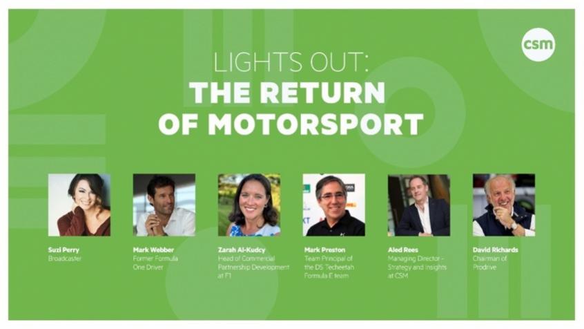 Crédito: CSM realizou webinar sobre retomada do automobilismo (Imagem: Divulgação/CSM Sport & Entertainment