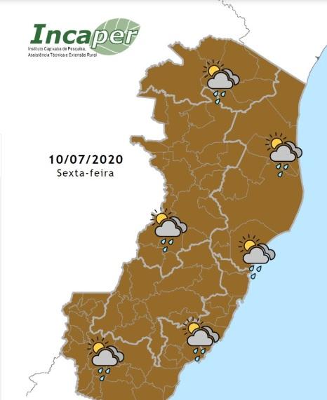 Mapa de previsão do tempo para sexta (10)