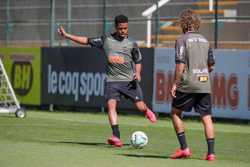 Crédito: Keno já trabalha a parte física para ficar à disposição de Sampaoli-(Bruno Cantini/Atlético-MG