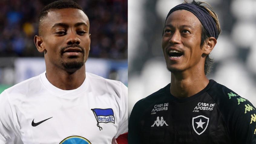Crédito: Kalou e Honda serão companheiros no Botafogo (AFP; Vitor Silva/Botafogo