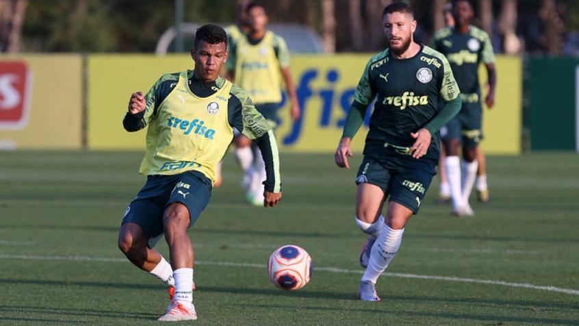 Crédito: Palmeiras realizou treinamentos técnicos e físicos na reapresentação desta segunda (Cesar Greco/Agência Palmeiras