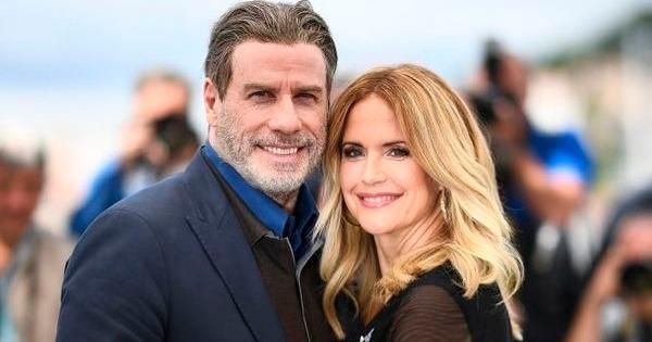 O ator John Travolta e a esposa, a também atriz Kelly Preston