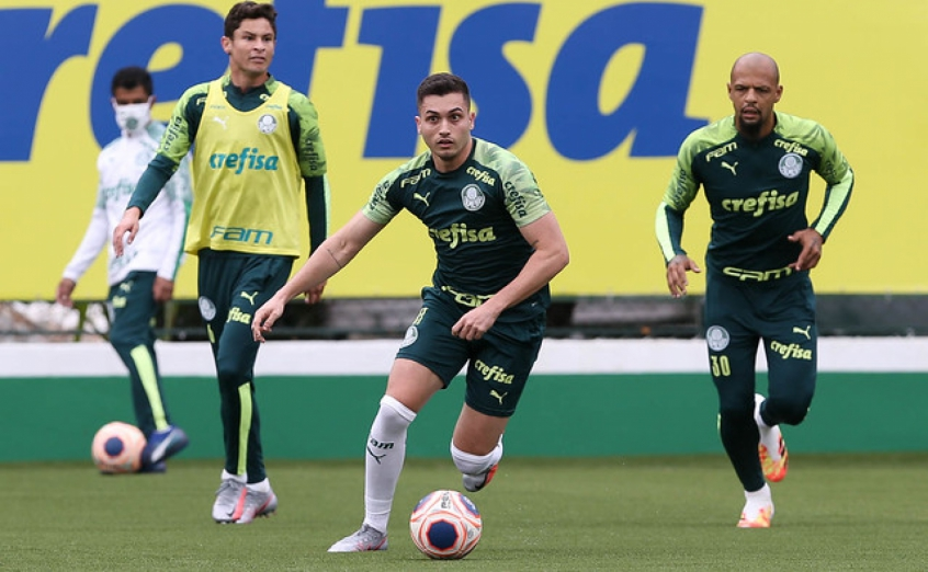 Crédito: Depois de passar por um período de transição física, Luan Silva treinou com elenco (Cesar Greco/Agência Palmeiras
