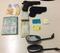 Materiais roubados e armas falsas foram encontrados com os suspeitos . Crédito: Divulgação | Polícia Civil