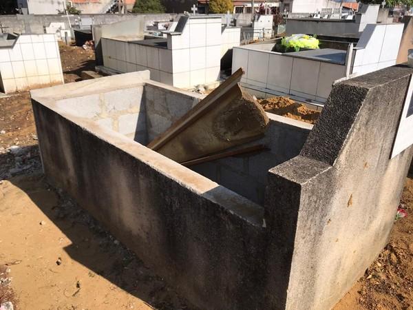 Homem invadiu cemitério em Viana