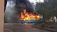 Ônibus foi incendiado em Viana