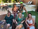 Priscilla Passamani, Talita de Pinho, Eduarda Buaiz, Emily e Kamilla Benjamin
