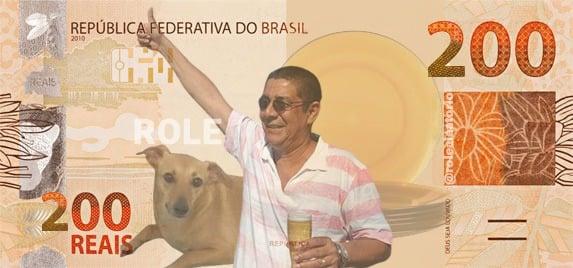 meme de 200 reais com imagem de Zeca Pagodinho
