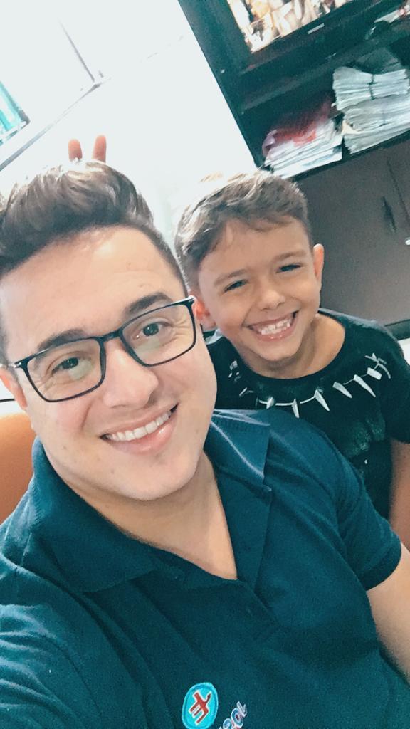 Márcio José e o filho Miguel